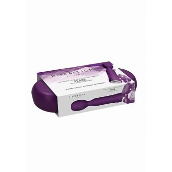 Estimulador Wand Pearl c/ Caixa Recarregável Discretion Roxo
