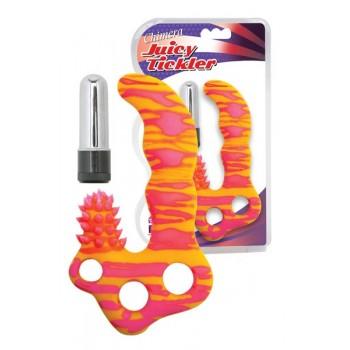 Vibrador Silicone Ponto-G e Clitóris Chimera Juicy Tickler Fluorescente