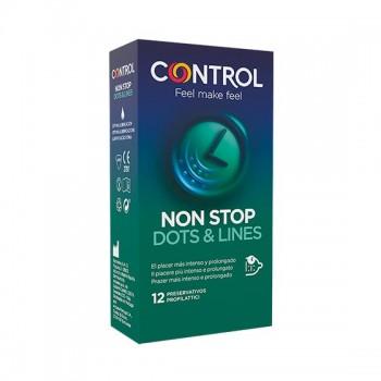 Caixa 12 Preservativos Non Stop Dots & Lines Control