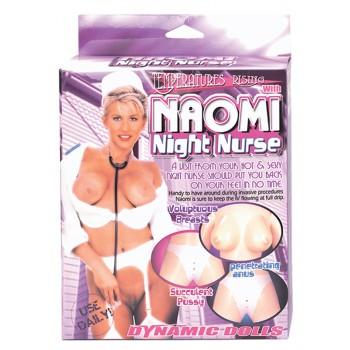 Boneca Insuflável Naomi com Uniforme de Enfermeira