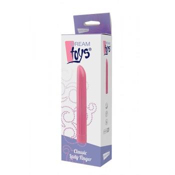 Vibrador Clássico Lady Finger Dream Toys 16cm Rosa