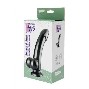 Dildo c/ Base Sucção Smooth & Sleek Dream Toys 19cm Preto Metálico