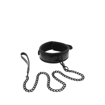 Colar e trela preto - BLAZE CROCO