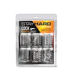 Kit 6 Mangas para Pénis Stay Hard Transparente