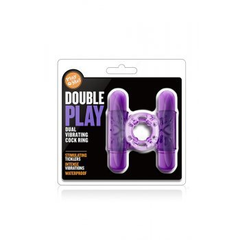 Anel Pénis Dupla Vibração Play With Me Double Play Roxo