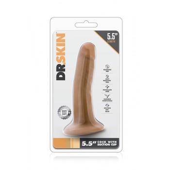Mini Dildo Realista c/ Base Sucção Mocha Dr. Skin 13.5cm Latino