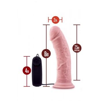 Vibrador Realista c/ Comando Dr. Skin Dr Joe 19cm Pele