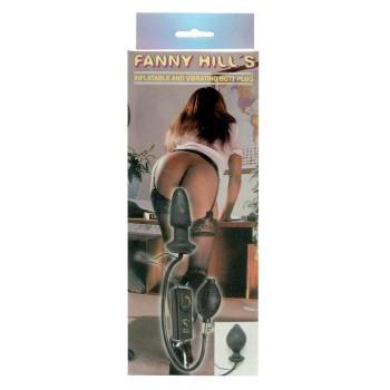 Plug Anal Insuflável Fanny Hills Preto