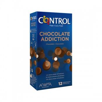 Caixa 12 Preservativos Chocolate Addiction Control